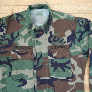 nboshop Jackets & Coats - Vintage Army Camo Jacket Sz Medium/XLong